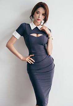 性感美女OL装显紧致身材秀美腿照片