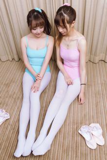 萌哒哒的芭蕾姐妹花美腿